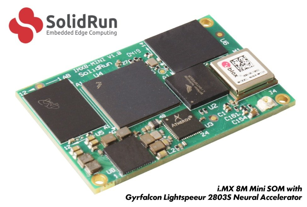 SolidRun & Gyrfalcon Accelerate On-Device AI with i.MX 8M Mini SOM