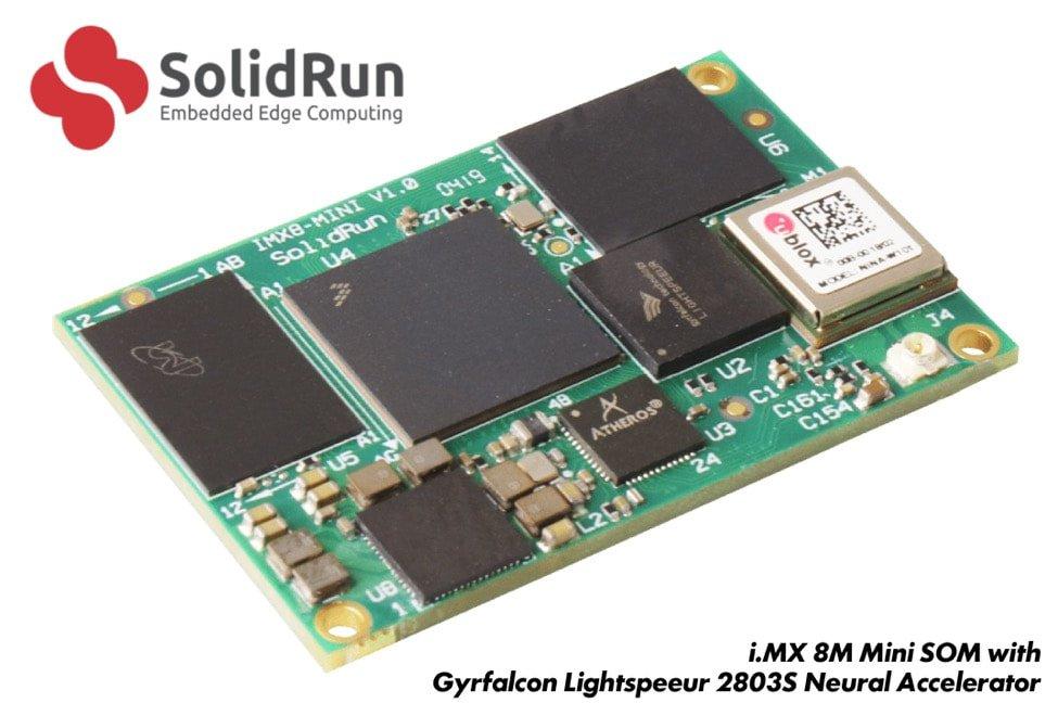 SolidRun & Gyrfalcon Accelerate On-Device AI with i.MX 8M Mini SOM