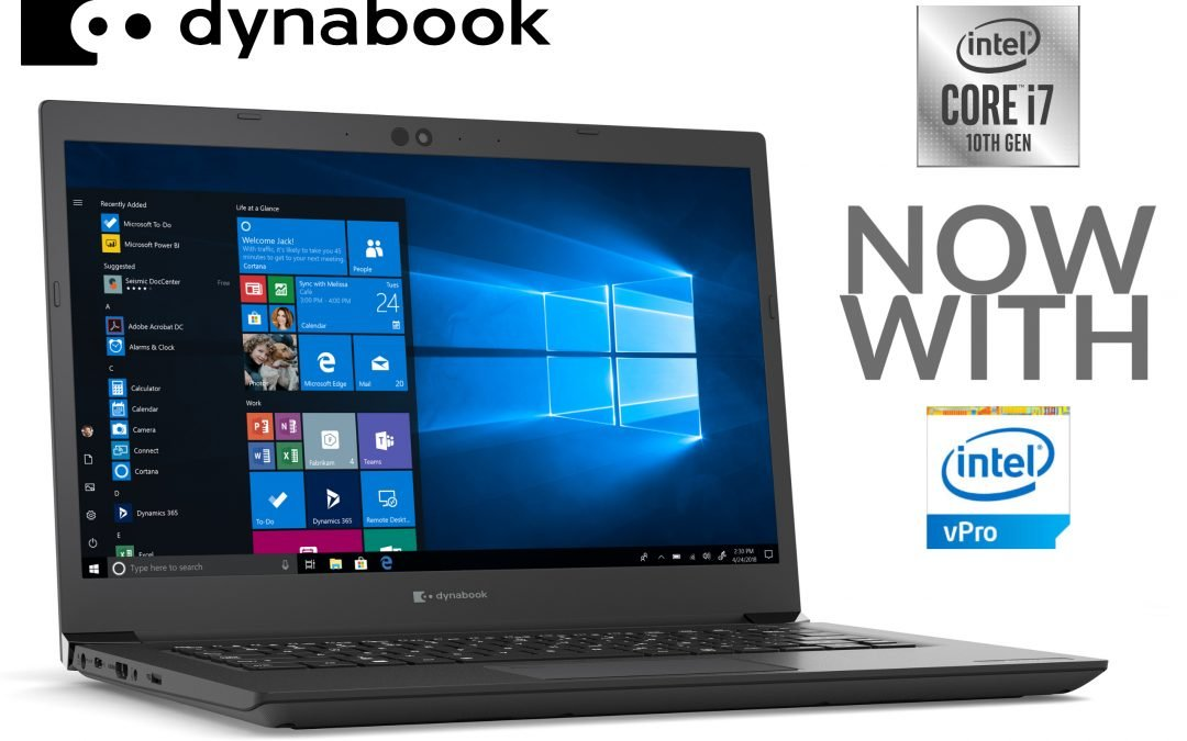 Dynabook Unveils 10th-Gen Intel Core vPro Processors on Portégé and Tecra Laptops