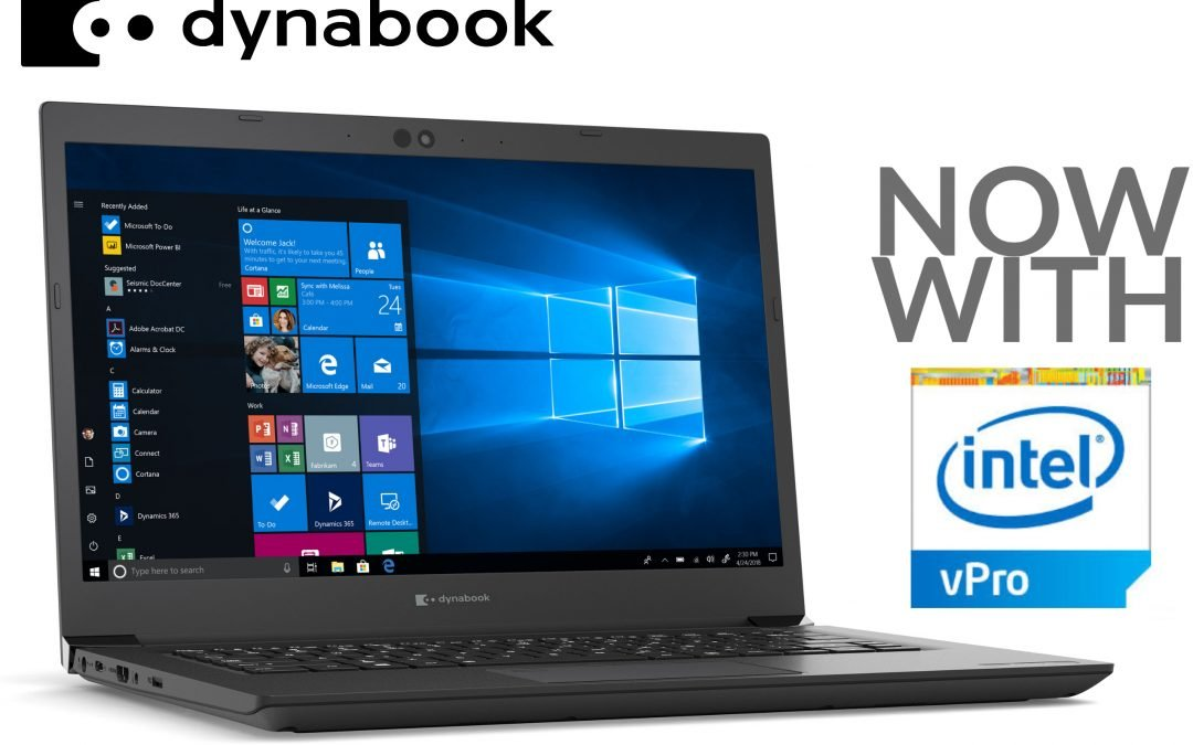 Dynabook Adds 11th Gen Intel® Core™ Mobile vPro® Processors to Portfolio of Professional Grade Laptops